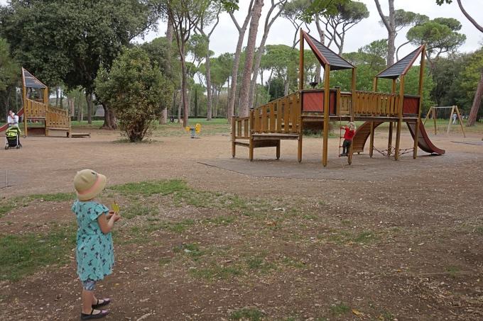 Kokemuksia Roomasta lasten kanssa - Villa Borghesen leikkipaikat