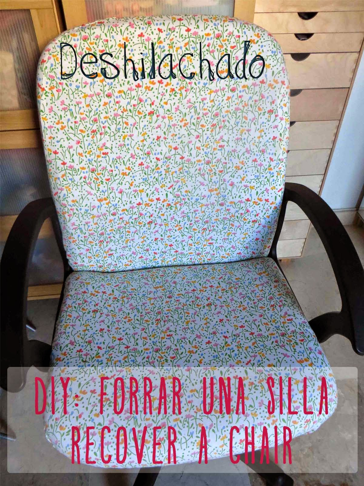 chair 1 2 nichols and stone rocking deshilachado: tutorial: forrar una vieja silla / recover an old