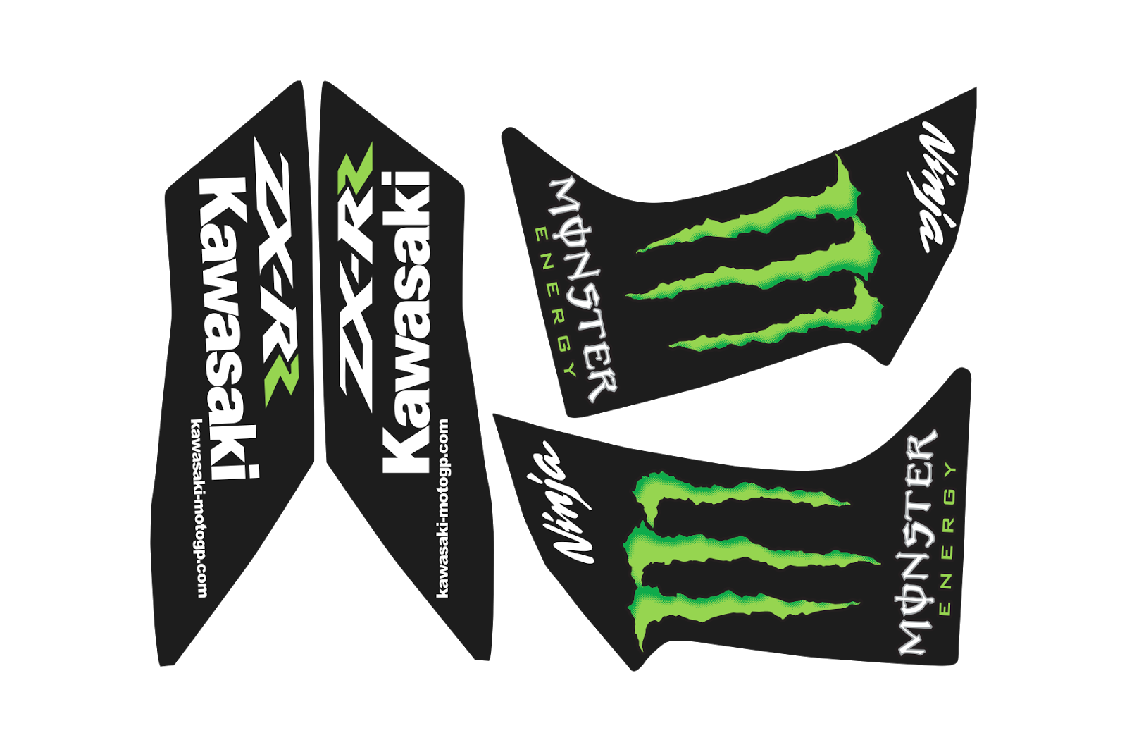 Kawasaki Ninja Monster ZX-RR Vector