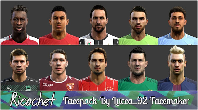 PES 2013 Ricochet FacePack By Lucca_92 Facemaker