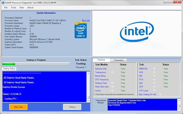 Intel Processor Diagnostic Tool untuk Memeriksa Fungsi dan Ketahanan Processor