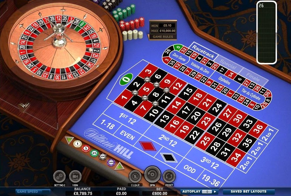 William Hill Roulette Screen