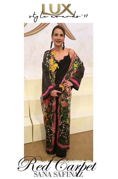 Designer Sana Safinaz Chateau Marmont for PSFW 2017 Red Carpet