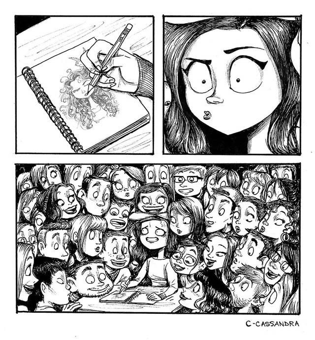 Romanian Artist Illustrates A Woman's Everyday Life