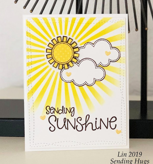 Sunny Studio Stamps: Sunny Sentiments Customer Card Share by Lin Brandyberry