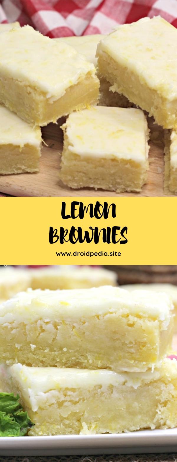 LEMON BROWNIES #dessert #brownies #lemon
