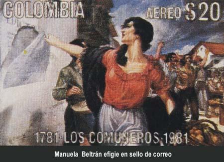 Resultado de imagen para Fotos de Manuela Beltrán y los Comuneros