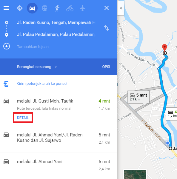 Klik Detail pada Menu Navigasi Kiri - Catatan Nizwar ID