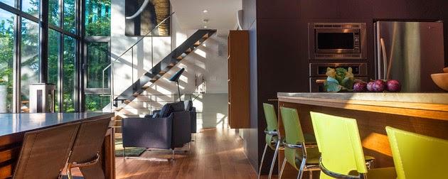 Desain Rumah Modern Minimalis di Lahan Miring - Rancangan ...