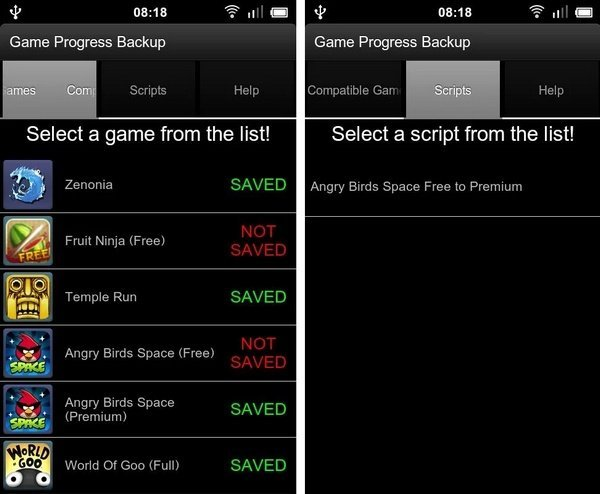 Aplikasi Game Progress Backup
