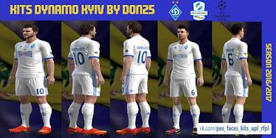 72913081a91 PES 2013 Dynamo Kyiv Home Kits 2016-2017