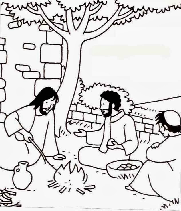 Dibujo De Jesus Con Sus Discipulos Para Colorear