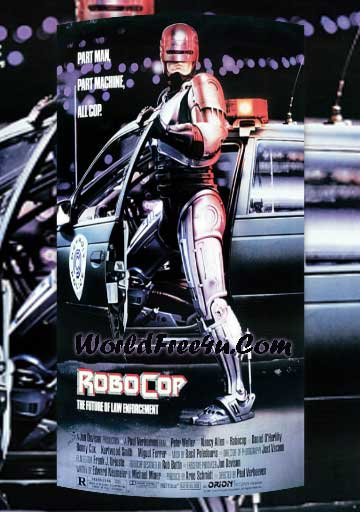 Poster Of RoboCop (1987) Full Movie Hindi Dubbed Free Download Watch Online At worldfree4u.com