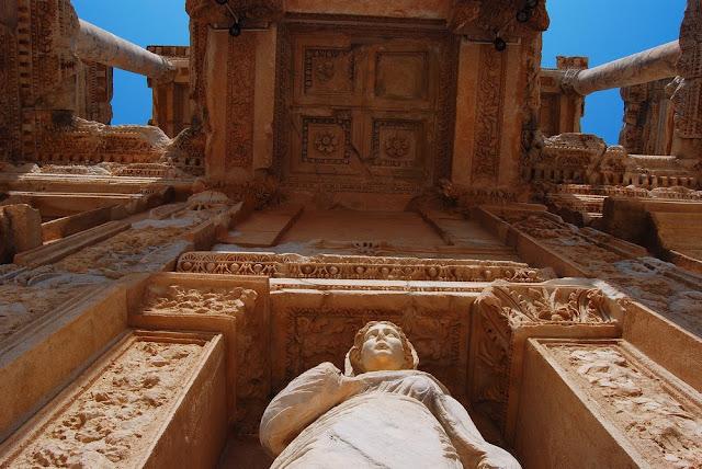 détail de la bibliothèque de Celsus