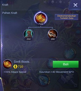 Item kedua pada build Martis Mobile Legend Burst Damage