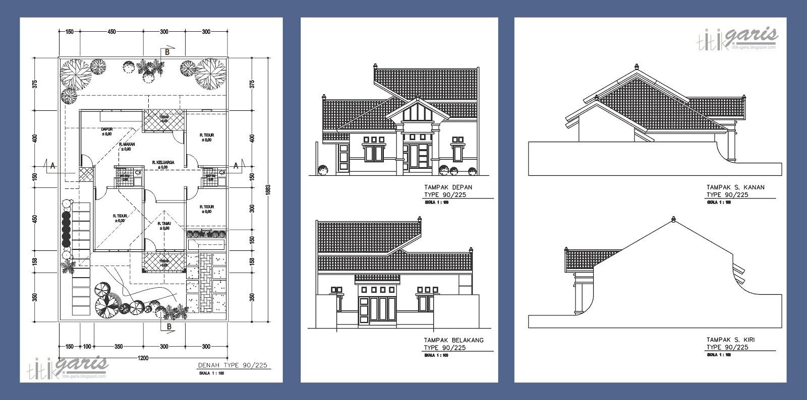 contoh gambar denah rumah 3d 2