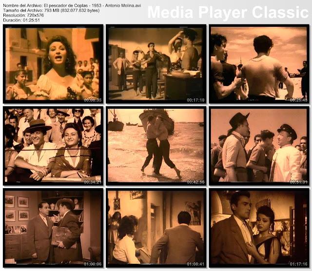 El pescador de coplas 1954 | Cine clasico español