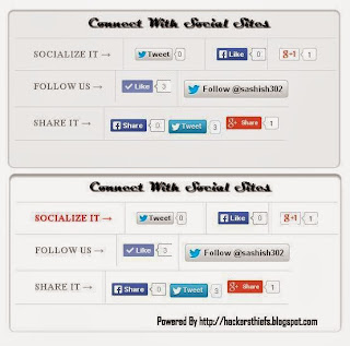 Social Sharing Widget Box for Blogger Blogs
