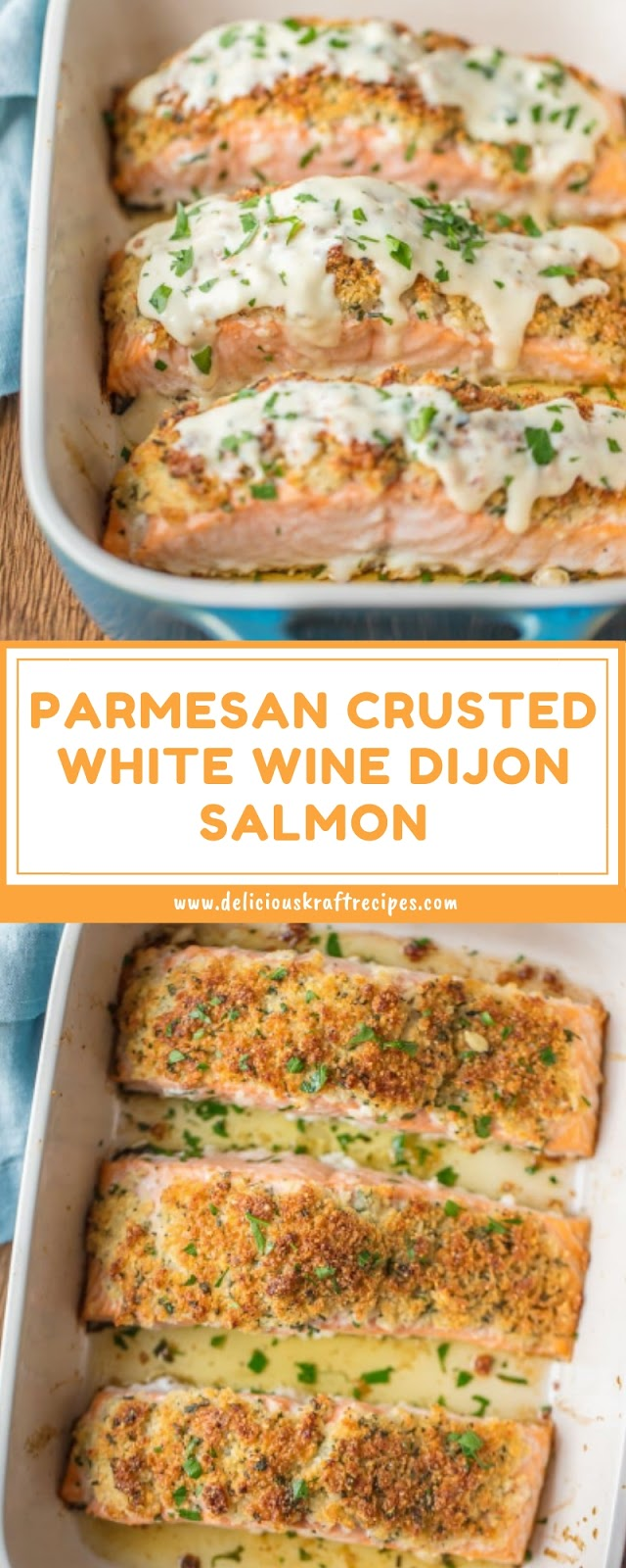 PARMESAN CRUSTED WHITE WINE DIJON SALMON
