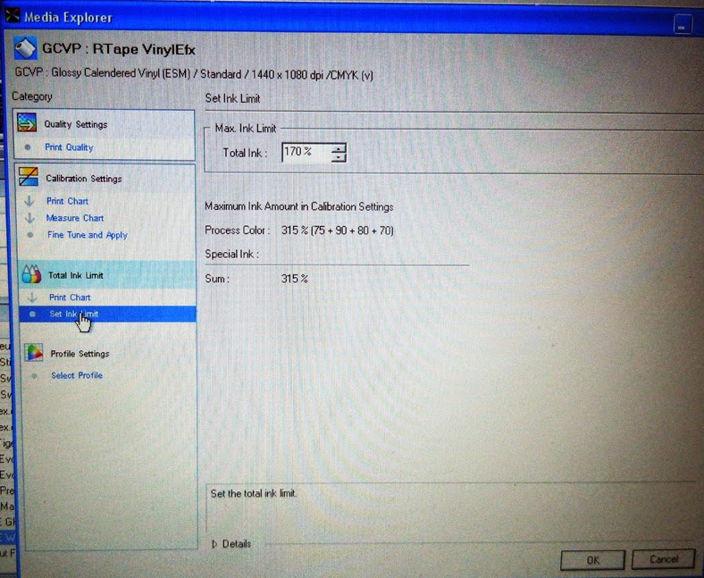 Changing Printer Settings in Roland Versaworks | Hingst's Sign Post