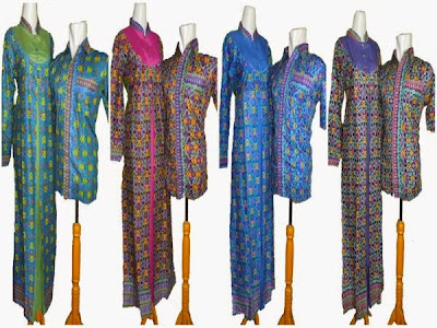 model baju batik gamis couple