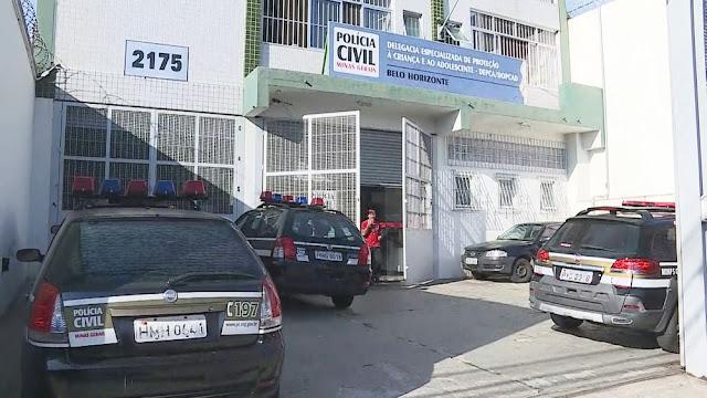 Delegacia Especializada de Proteção à Criança e ao Adolescente, em Belo Horizonte (Foto: Reprodução/TV Globo)