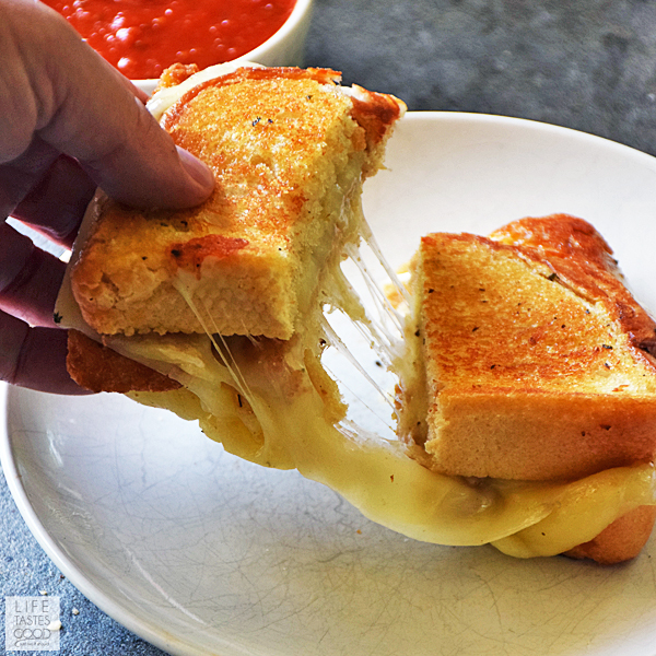 Mozzarella Stick Grilled Cheese Sandwich
