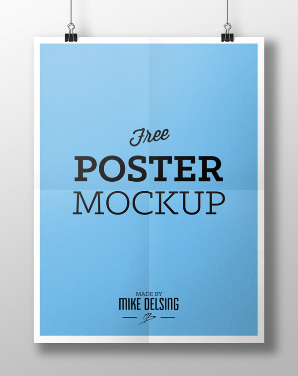 Free Poster Mockup by Mike Delsing