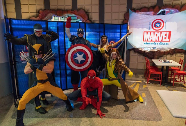 Personagens que estão no Marvel Character Dinner