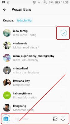 Cara kirim Pesan DM (Direct Messages) di Instagram
