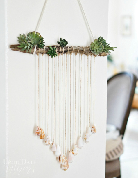 Sea Shell Wall Hanging DIY Craft Idea Decor