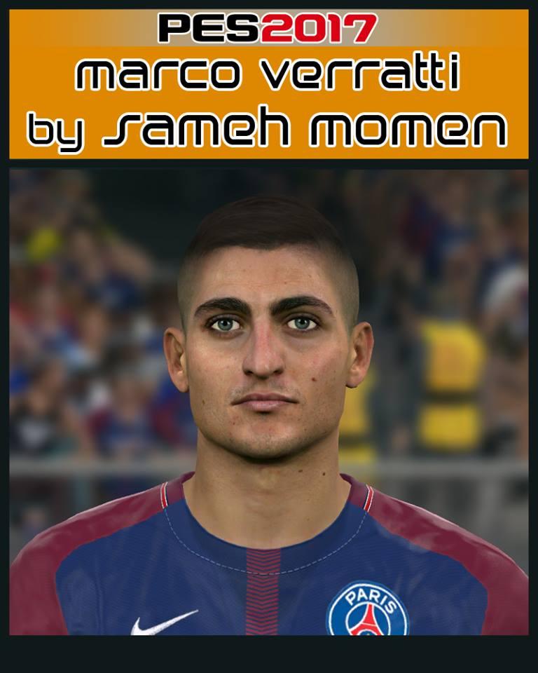 PES 2017 Marco Verratti face by Sameh Momen