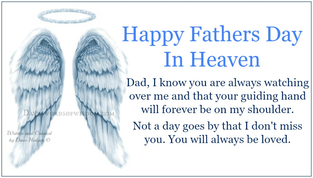 daveswordsofwisdom com happy fathers day in heaven