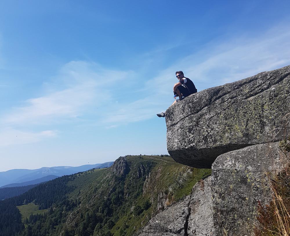 Klettersteig Vogesen : Lac blanc gazon du faing biken in den vogesen