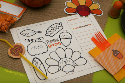 free printable thanksgiving place mats to color