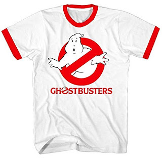 Red and White Ghostbusters Ringer T-shirt