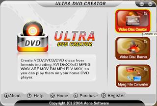 Tampilan ultra dvd creator