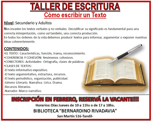 Biblioteca Popular Bernardino Rivadavia De Tandil Febrero 2013