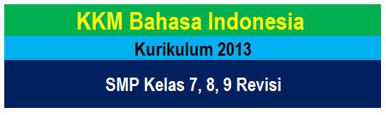 KKM Bahasa Indonesia SMP/MTs Kurikulum 2013