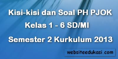 Kisi-kisi dan Soal PH/UH PJOK SD/MI Semester 2 Kurikulum 2013