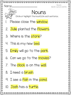 https://www.teacherspayteachers.com/Product/Nouns-Worksheets-3209641