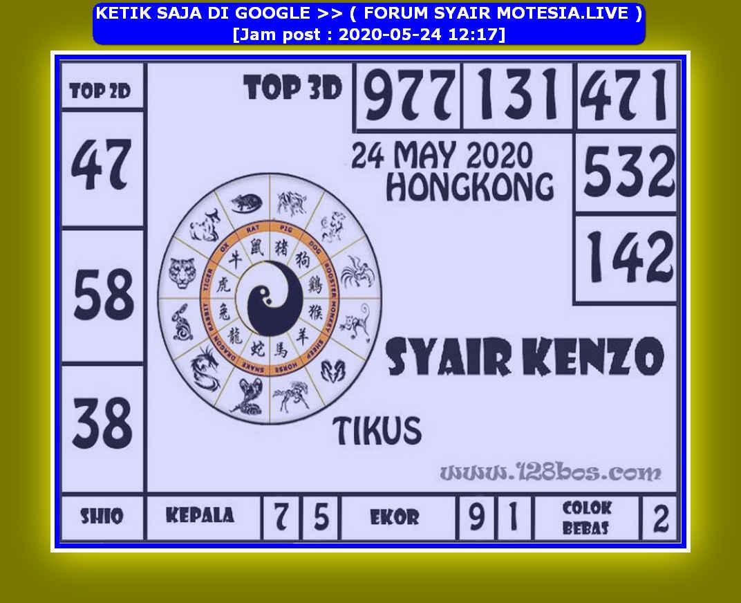 Kode syair Hongkong Minggu 24 Mei 2020 101