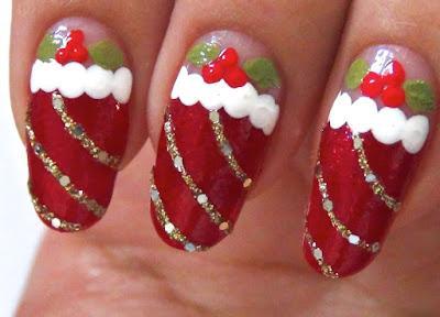 Uñas decoradas de navidad