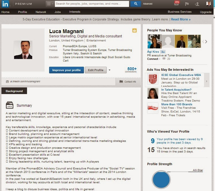 Luca Magnani Ideas Open Source My Linkedin Profile