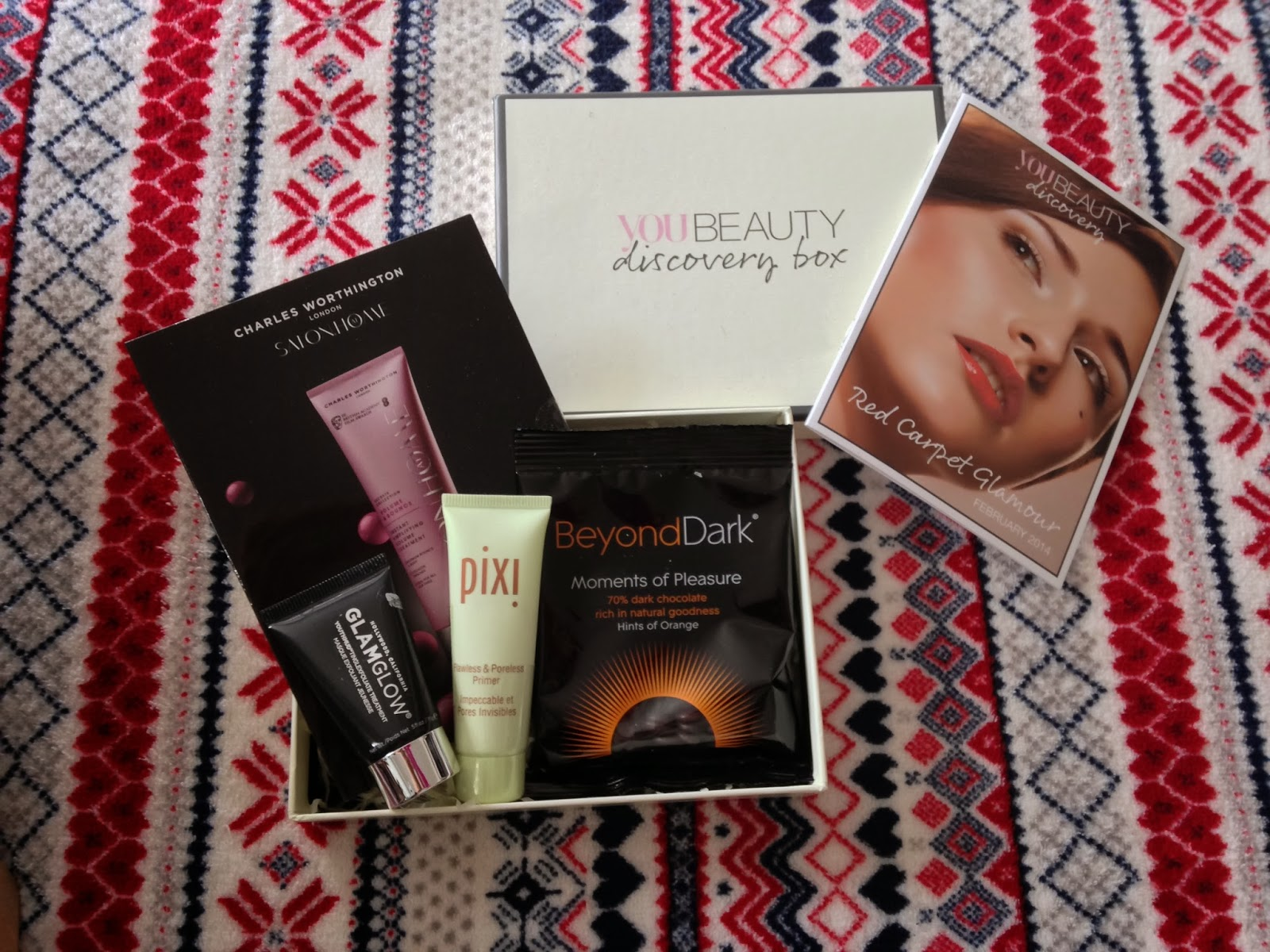 You Beauty discovery box contents February 2014