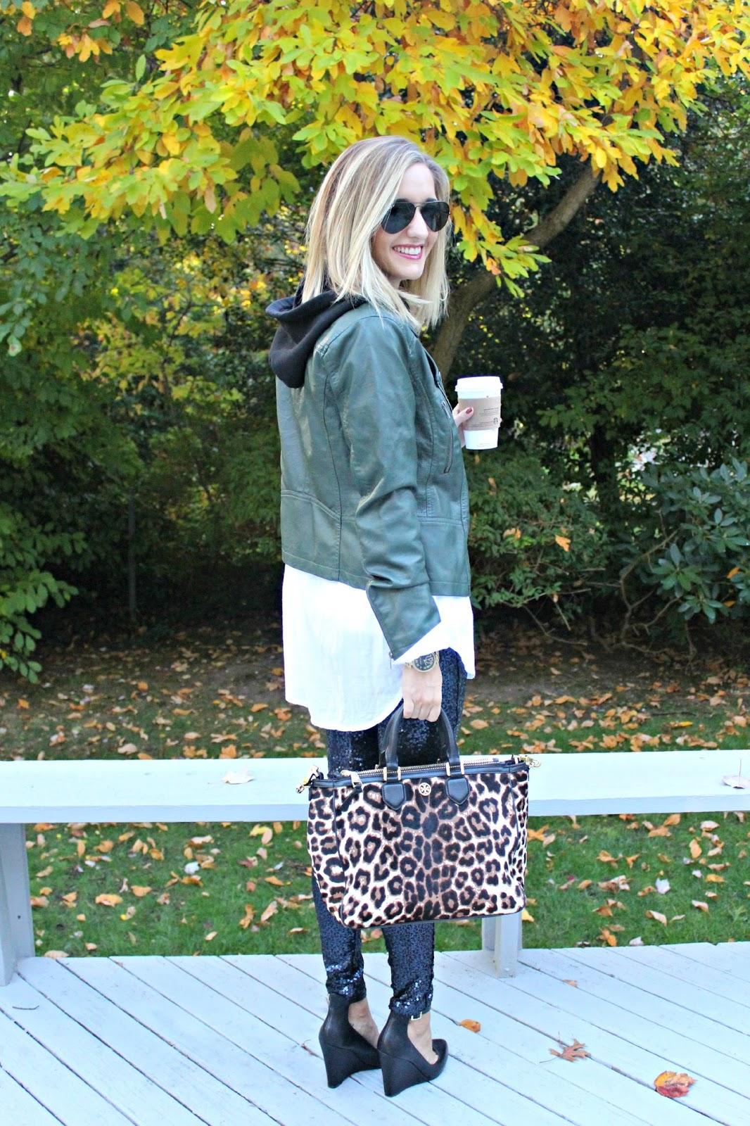 tory burch leopard tote
