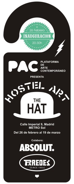 Cartel de Hostel Art en The Hat