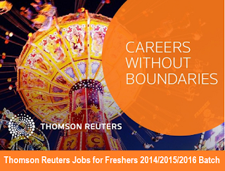 Thomson Reuters Recruitment for Freshers 2014/2015/2016 Batch: On 11th to 12th Oct 2016