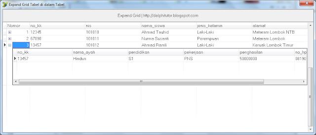 Expand Grid, DBGrid di dalam DBGrid Delphi