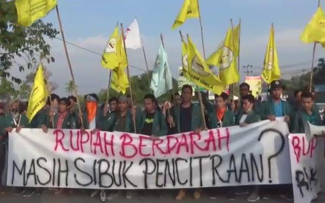 Mahasiswa Lampung: Rupiah Berdarah Masih Sibuk Pencitraan